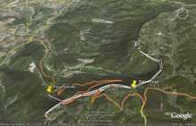 Le terrain de jeu est vaste  chercher peyrus, france sur maps.google.fr ou dans googleearth, le site se trouve un peu au sud est.