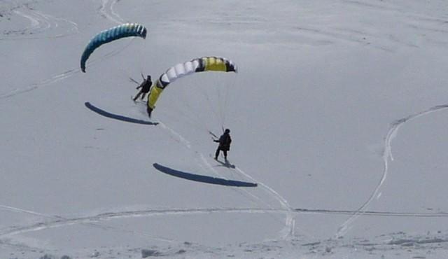 Entre Speed et snow kite