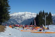 Highlight for Album: 22 janvier 1ère manche du Vol et Ski de Crest Voland