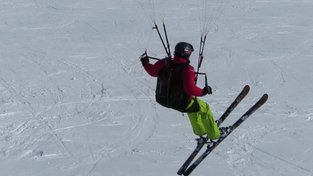 Ride du Plomb, juste avant le contact sur la neige