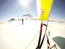 Snow kite vers le Plomb