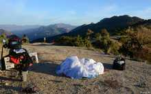 Beauvoisin, Col de Milmandre, tout seul un lundi et venue en moto avec le tapis volant...