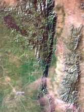 Kerio Valley, map