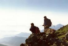Deco du Pic du Midi avec Hubert Aupetit et Patrice de Bellefon (juillet 1989).jpg