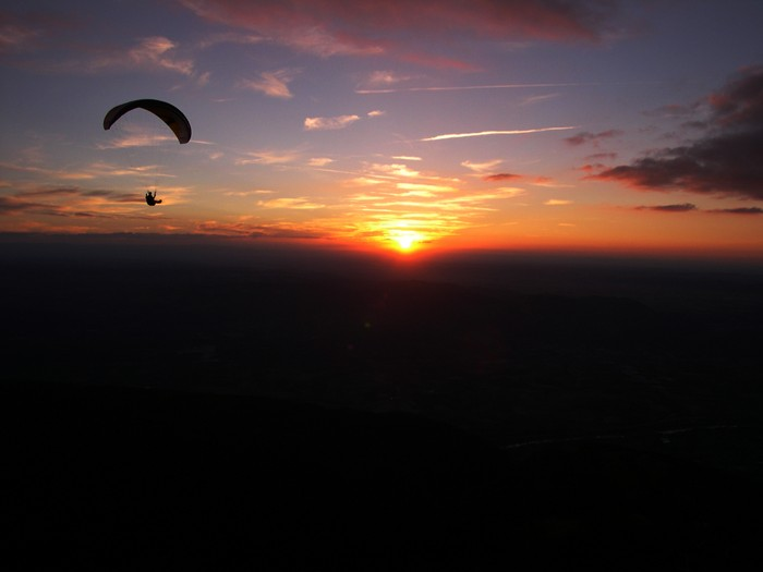 Montaud, au coucher du soleil
