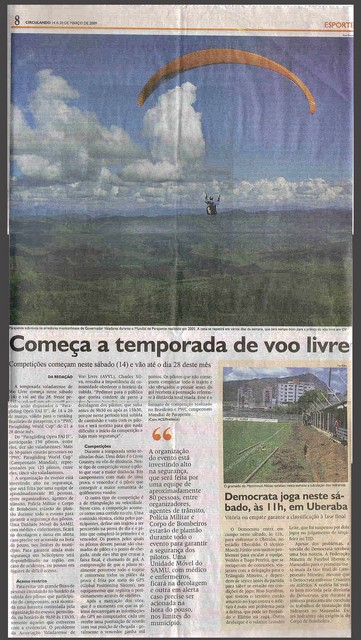 Valadares Open, mars 2009 - la presse locale