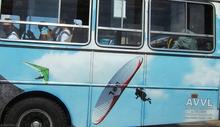 Valadares Open, mars 2009 - le bus