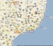 Carte Brasil, Governador et Belo Horizonte